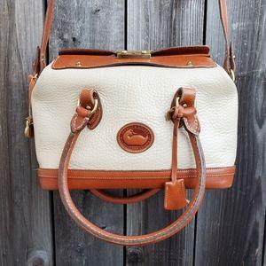 Rare Vtg AWL Dooney & Bourke Cream Doctor's Bag